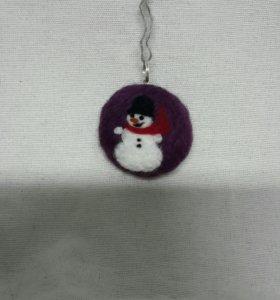 Ёлочная игрушечка. Снеговик