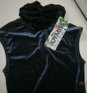 Платье  велюр новое 42 размера