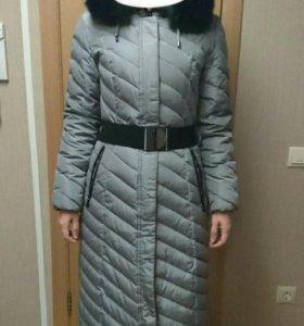 Зимний длинный пуховик