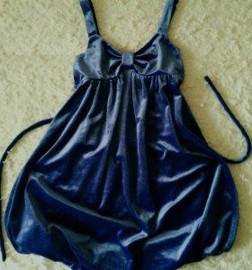 Модное платье велюр