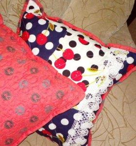 Подушки одеяла  в технике пэчворк