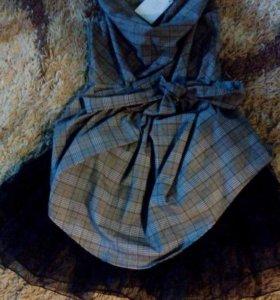 Кофта с пышной юбкой и поясом