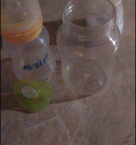 Бутылочки, пустышка