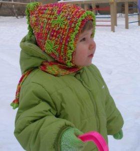 Детские шапка и шарф