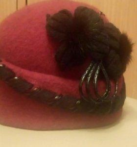 Женская шапка (фетровая)