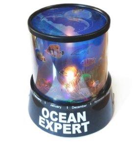 Ночник проектор Океан проецирует морское дно P03