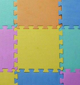 Разноцветный коврик - пазл