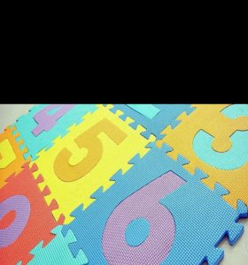 Обучающие коврики - пазлы с цифрами 10 шт