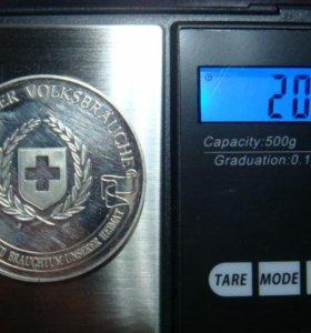 Медаль швеции серебро 999