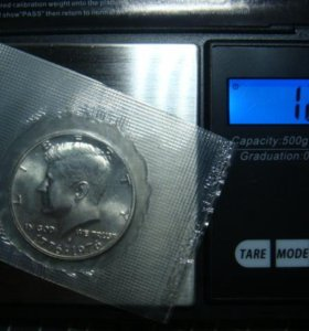 Пол доллар серебро