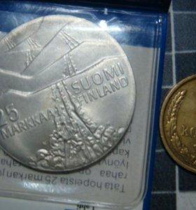 25 марок финляндии серебро