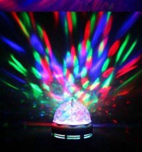Лампочка эффект диско