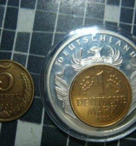 Медаль 1 марка ГДР