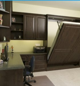 Кухня с кроватью
