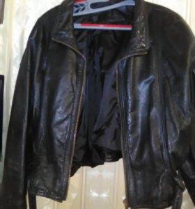 Куртка кожанная,размер 42-44; ц. 1200р.