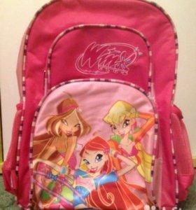 Рюкзак для девочки winx с ортопедической спинкой