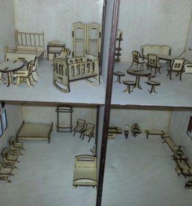 Домик с мебелью
