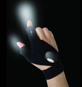 Перчатка светодиодный фонарик