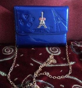Синяя сумочка для девочки✨