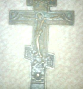 Стариный бронзовый крест 18-19 века