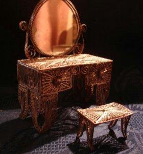 Старинная кукольная мебель.скань.серебрение