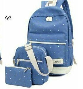 Набор. Рюкзак, сумка, косметичка .Новые!