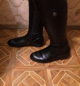 ‼️Новые кожаные осенние сапоги