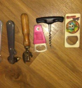 Открывашки, походные ложки, ножи
