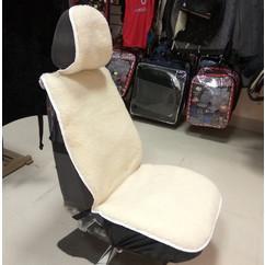 Меховая накидка на авто-кресло
