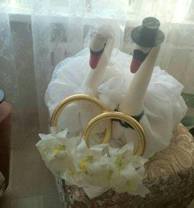 Свадебное украшения на машину