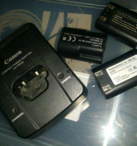 Зарядник Canon CA-PS100 и три батареи NB-5H