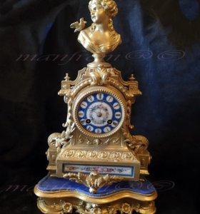 Часы каминные настольные J.Freres 1880 г. Франция