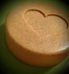 Органическое мыло-скраб с овсянкой ручной работы