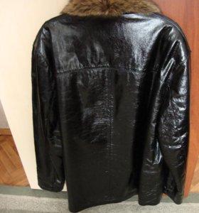 Мужская зимняя куртка из натуральной кожи