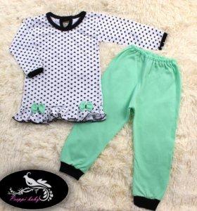 Пижама для девочки.Р.80-86-92-98-104.