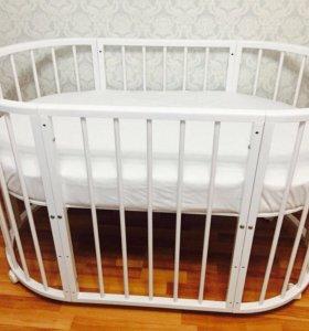 Круглая кроватка трансформер
