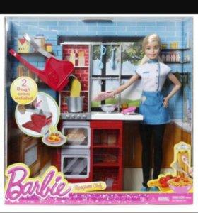набор кукла барби повар+хэндгам в подарок