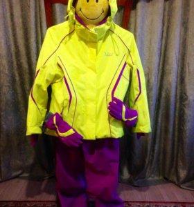 Горнолыжный костюм для девочек  рост 146