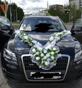 Украшение для машины на свадьбу