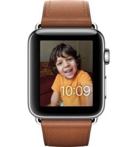 Apple watch 42 mm стальной корпус (новые в упак.)