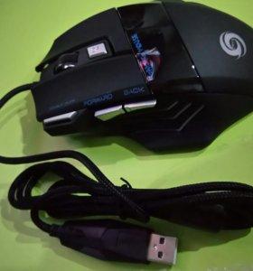 Игровая проводная мышь новая