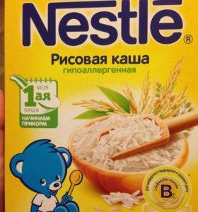 Каша Nestle, безмолочная рисовая.