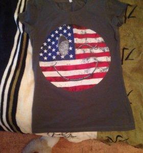 Оригинальная футболка в цвете хаки