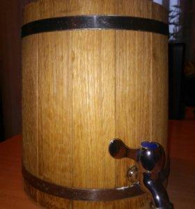 Бочонок дубовый (новый) 5 литров