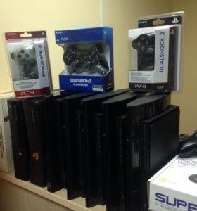 Игровые приставки Sony,Xbox и игры