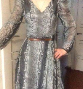 Платье шифоновое на подкладе