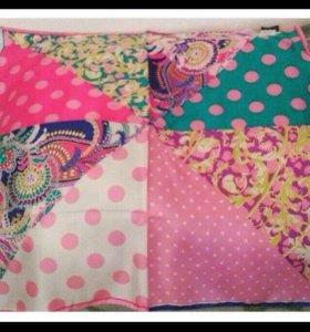 Новый платок из натурального шелка 90/90 см