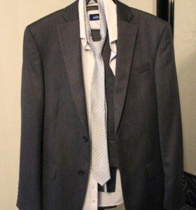 Костюм, рубашка и галстук на свадьбу, выпускной