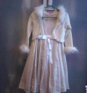 Нарядное платье 2-4 г