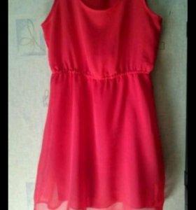 Шифоновое платье-Xs